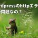 【Xサーバー】wordpress 画像アップでhttpエラーはサイズの問題?本当の原因と対処法
